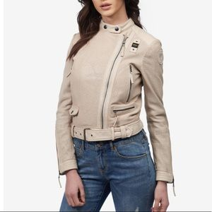 Blauer USA leather jacket women's size small